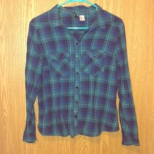 💙Blue&Green Flannel💚